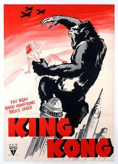 King Kong, Poster Art, 1933 Canvas Print / Canvas Art by Everett