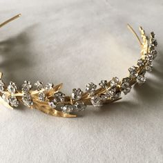 """""""Lily of the Valley"""" Enchanted Atelier by Liv Hart Swarovski headband."""