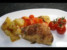 Poulet et légumes au four