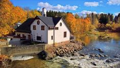 Old file factory (built in by the river Vantaankoski in Finland (it's a restaurant nowadays) October 2016 © COPYRIGHT The work contained in m. Old File Factory Endless Night, Sunny Afternoon, Romantic Scenes, Shutter Speed, Online Art Gallery, Great Places, Cool Photos, Photo Galleries