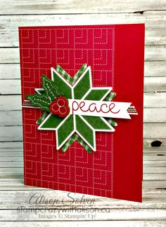 Just in Case - Quilted Christmas Christmas Cards 2017, Stamped Christmas Cards, Homemade Christmas Cards, Xmas Cards, Christmas Themes, Handmade Christmas, Holiday Cards, Patchwork Cards, Christmas Patchwork