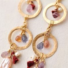 spinel & pearl mix ピアス
