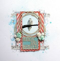 "Les créations de mariemily: Page ""Magic and Wonder"" / ""Magic and Wonder"" layout (Blue Fern Studios) by Marie-Josée Hamel."