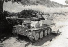 A German MARDER III, destroyed near Tunis.