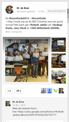 One Hour of Code in actie in Nederland op OBS Tuindorp