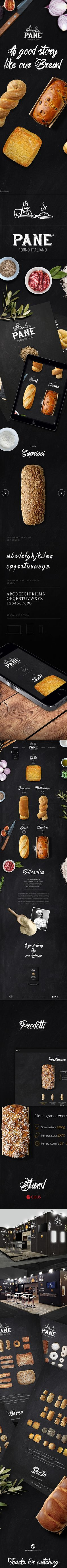 Pane | Forno Italiano by Scozzese Design, via Behance