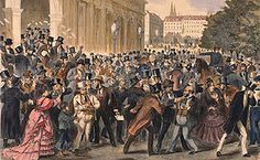 Black Friday At May 9th 1873 At The Vienna Stock Exchange, Wood Engraving From 1873 Deutsch