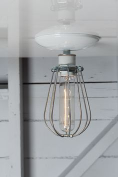 Industrial Modern Lighting - Wire Cage Light - Ceiling Mount