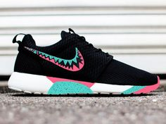 Mens and Womens custom Nike roshe design, unisex design, teal and pink pastel, cute trendy design, Customized nike roshe run, sneakerheads