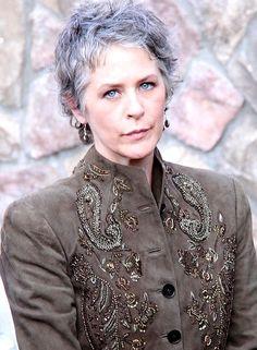Melissa McBride, Saturn Awards 2014  ** Love Carol in 'The Walking Dead', but love her wispy, cropped hair ❤️