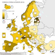 How many foreigners are there really in your country? #statistics made #visual Re-pinned by #Europass