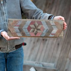 DIY Barn Wood Quilt Kit Large Pattern Wall by TheReclaimedNation wood crafts crafts design crafts diy crafts furniture crafts ideas Barn Quilt Designs, Barn Quilt Patterns, Wall Patterns, Barn Wood Crafts, Barn Wood Projects, Art Projects, Barn Wood Decor, Wooden Wall Art, Wood Art