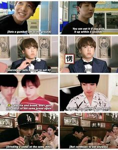 how Jungkook deal with food
