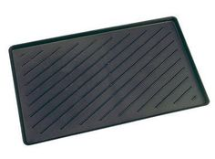 W. J. Dennis OLK1424 Black Boot Tray by W. J. Dennis. $2.59. Raised lip around the edges to prevent dirt and liquids from overflowing onto the floor. Made of strong and sturdy recycled plastic. Protects floors from sand, mud, salt, slush, and etc. The well defined grooves in the interior of the trays provides protection for shoes and boots. Black. 14'' x 24''.. Save 35%!