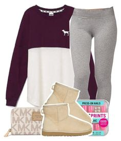 """School Outfit .✏️"" by clinne345 ❤ liked on Polyvore featuring Victoria's Secret, Forever 21, Michael Kors and UGG Australia"