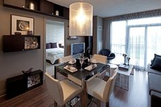 Waterscapes Condominium Suite - contemporary - Dining Room - Toronto - Peter A. Sellar - Architectural Photographer
