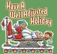 Naughty or Nice?! Doesn't matter. Everyone get adjusted. Everyone have a wonderful holiday. Mix and mingle. #backinmotion.us