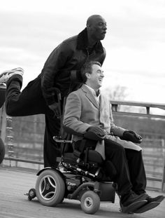 """The intouchables"" Seriously a top notch movie. Omar Sy and François Cluzet in ""The Intouchables"" - France's top seen movie ever. A wonder of unity in diversity. Film Movie, See Movie, Movie Scene, Intouchables Film, Movies Showing, Movies And Tv Shows, Bon Film, Paris Match, Forrest Gump"