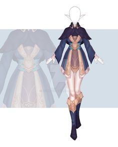 [Close] Adoptable Outfit Auction 231 by Kolmoys on DeviantArt Fantasy Character Design, Character Design Inspiration, Character Costumes, Character Outfits, Fashion Design Drawings, Fashion Sketches, Anime Outfits, Cool Outfits, Clothing Sketches