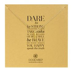 dare to… spike necklace, gold dipped, 18 inch