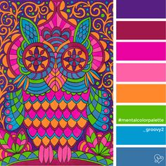 Groovy 2 Unleash your inner child with the  Groovy color palette | Päivi Vesala - Mental Images colouring books