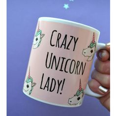 Items similar to Crazy Unicorn Lady // Illustrated Unicorn Mug on Etsy Unicorn Illustration, Everything Pink, Unicorn Party, Birthday Presents, Etsy, Dame, Polyvore, Shop My, Make It Yourself