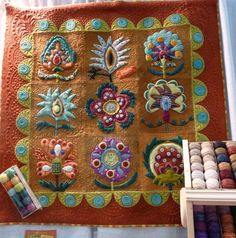 Sue Spargo quilt at Houston Quilt Market. Photo by the Raspberry Rabbits