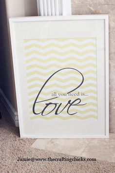 "{""All You Need Is LOVE"" free wall art printable}"