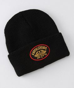 Take a look at this Black Vancouver Beanie by Knuckleheads on #zulily today!