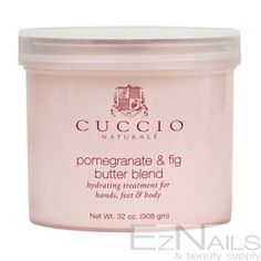My body drinks this stuff up! Soooo good I'd eat it if I could Pomegranate & Fig Butter Blend, by Cuccio. Mmmmh...