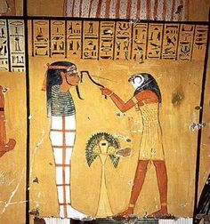 photos of ancient egypt | depiction of the opening of the mouth scene in the tomb of Inherkha ...