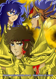 Gold Saints. Fan Art by Diego Maryo inspired by Saint Seiya.