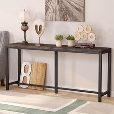 Extra Long Console Table, Console Table Behind Sofa, Slim Console Table, Long Sofa Table, Narrow Entryway Table, Narrow Sofa, Entryway Decor, Skinny Tables, Large Sectional Sofa