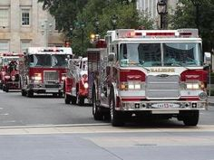 The North Carolina Firefighters Association held the Main Street Fire Truck Parade in downtown Raleigh on Saturday, August 14, 2010.  (Photo...