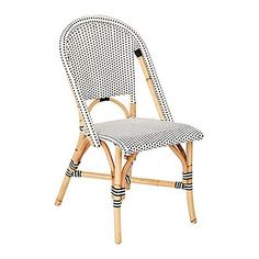 Navy White Patio Dining Chairs Wicker Patio Furniture