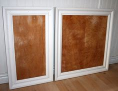 Adding trim to existing plain kitchen cabinet doors. This is my favorite example of this I've found.