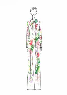 """Jenny Packham took inspiration from a Susan Sontag quote: """"What is most beautiful in virile men is something feminine; what is most beautiful in feminine women is something masculine."""""""