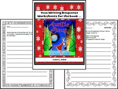 Free writing response worksheets for the book: Auntie Claus. Christmas Read Aloud!