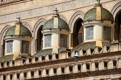 Small cupolas along the Cathedral walls, Palermo Italy