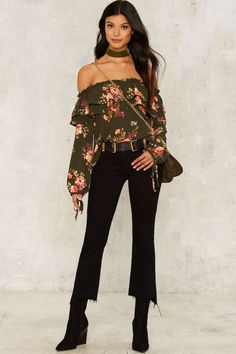 Good Natured Off-the-Shoulder Top - Clothes | Fall Bohemia | Blouses