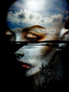 'The face, clouds and moor' von Gabi Hampe bei artflakes.com als Poster oder Kunstdruck $34.65