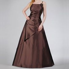 Abendkleid Ballkleid Festkleid Festmode braun Größe 40 1-teilig