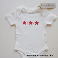 Stars America Fourth of July Independence Day Organic Cotton Baby Clothes Custom Screen Printed Onesie Star Organic Onesie - http://www.babies-clothes.info/stars-america-fourth-of-july-independence-day-organic-cotton-baby-clothes-custom-screen-printed-onesie-star-organic-onesie.html
