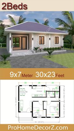 Mini House Plans, Little House Plans, Model House Plan, Small House Floor Plans, House Layout Plans, House Layouts, Small House Living, Small House Design, Small House Layout