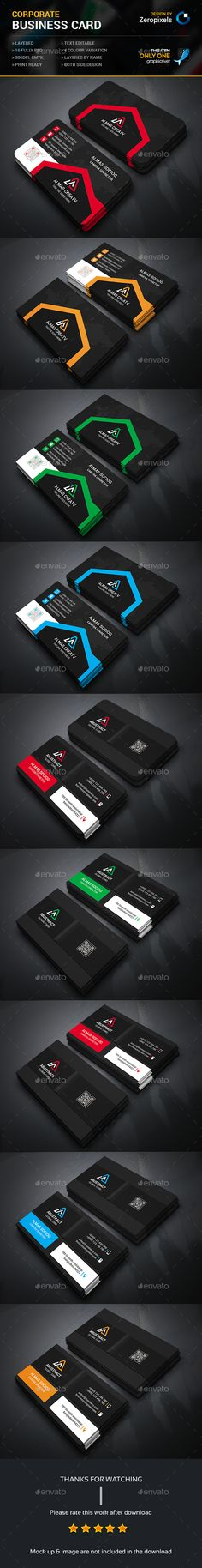 Corporate Business Card Bundle — Photoshop PSD #designer #standard • Available here → https://graphicriver.net/item/corporate-business-card-bundle/15689493?ref=pxcr