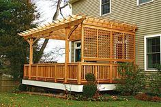"""IMPORTANT: For High Wind: 1) Bolt pergola support posts to the frame of the deck using (2) 1/2""""x6"""" lag screws with washers per post. This technique is the same as attaching a rail post. 2) Attaching sections of rail in between pergola posts will strengthen the pergola. 3) Installing 45 degree bracing in between the post and header beam 4) Using 6x6's for support posts 5) Using deck Lok brackets extremely windy areas"""
