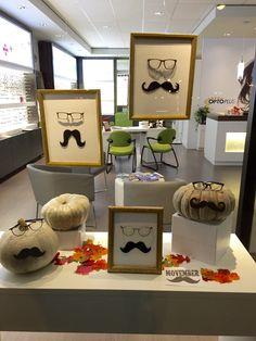 Vitrine de Optoplus Sherbrooke pour Movember