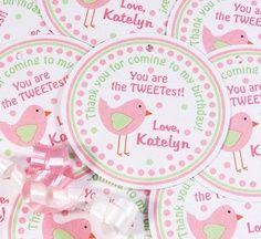 tweet+bird+party+favors | Birdie FAVOR TAGS Tweet Birdie Birthday Party Baby by 10candles, $6.00