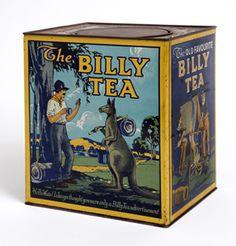Billy Tea, vintage tin, kangaroo