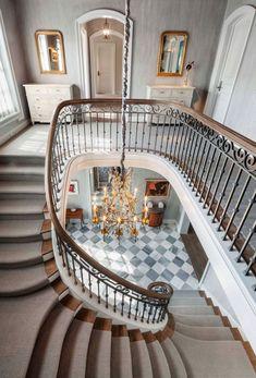 Dream Home Design, My Dream Home, House Design, French Provincial Home, Interior Architecture, Interior Design, Mansion Interior, Mansion Bedroom, Staircase Design